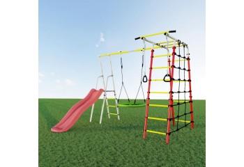 Детский спортивный комплекс для дачи ROMANA Богатырь качели  гнездо - фото1