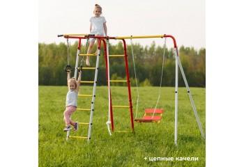 Детский спортивный комплекс для дачи ROMANA Лесная поляна с цепными качелями
