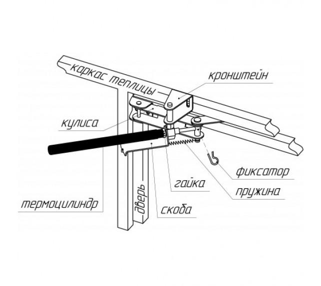 Автоматический открыватель дверей и форточек схема установки - фото3