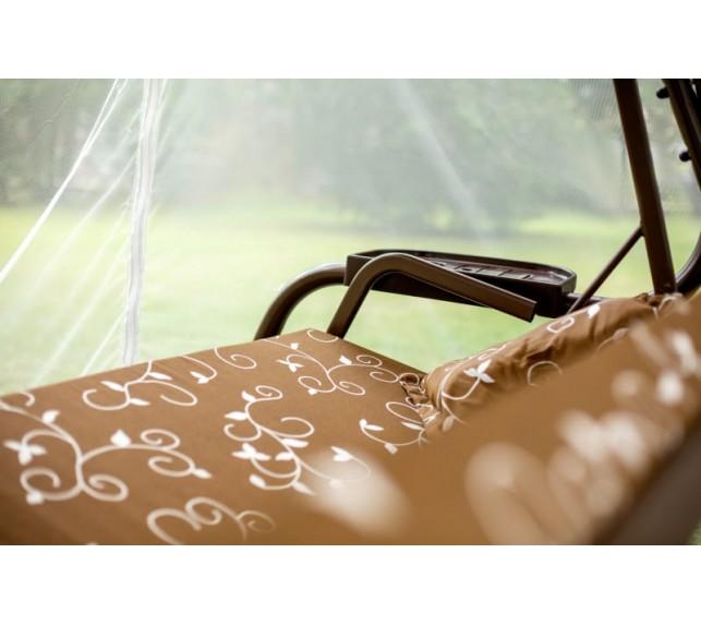 """Качели садовые """"Турин"""" С681 Ольса шоколад с москитной сеткой - фото3"""