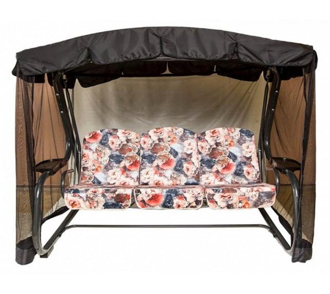 """Качели садовые """"Мастак Премиум"""" c589 мебельная ткань в комплекте с сеткой - фото1"""