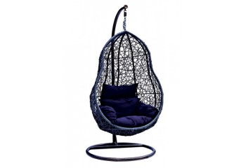 """Подвесное кресло-качели """"Груша"""" из искусственного ротанга с подушкой"""