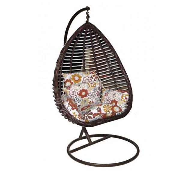 """Подвесное кресло-качели """"Шарм"""" из искусственного ротанга с мягкой подушкой"""