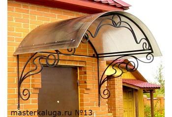 """Козырек над дверью из поликарбоната """"Лик-8"""" - металлоконструкции"""