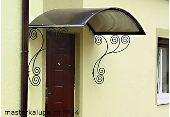 """Козырек над дверью """"Лик-1"""" -  металлоконструкции - фото1"""