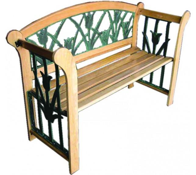 Лавочка садовая G003L - скамейки садовые