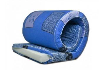 Матрас холконовый для смягчения спального места толщина 8 см с чехлом на молнии