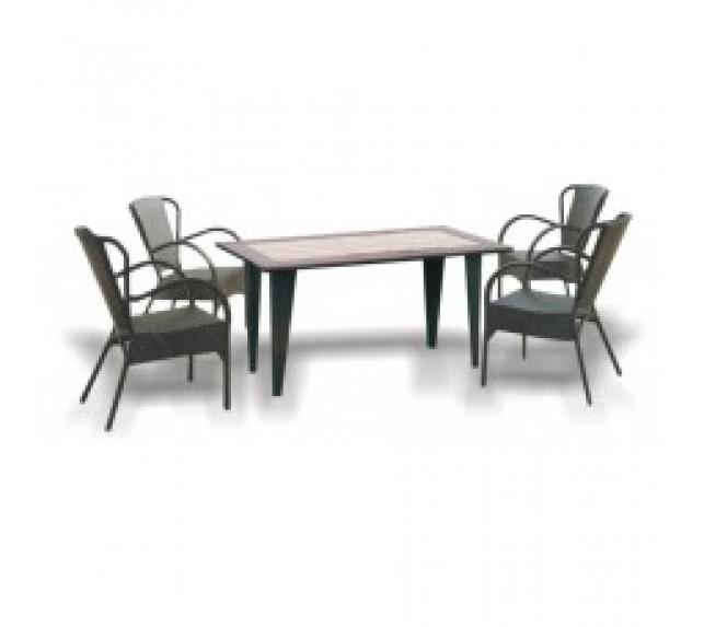 """Набор мебели """"Римини"""" из ротанга со столом и креслами"""