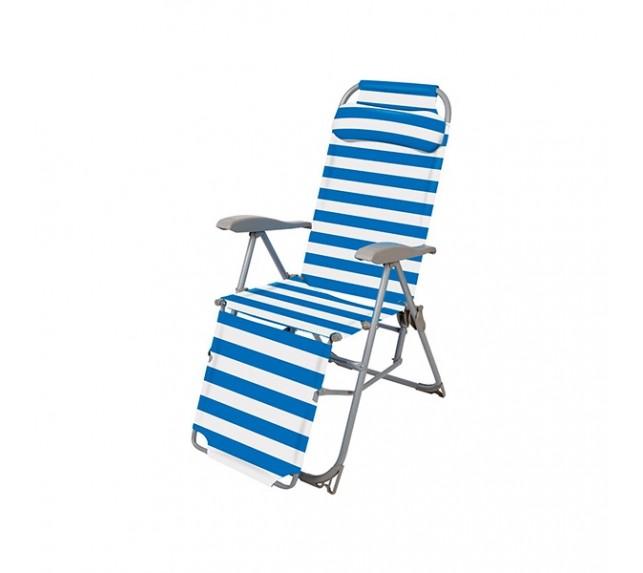 """Кресло шезлонг """"Ника"""" синего цвета - садовая мебель - фото3"""