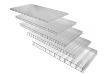 Сотовый поликарбонат 6 мм SUNNEX прозрачного цвета