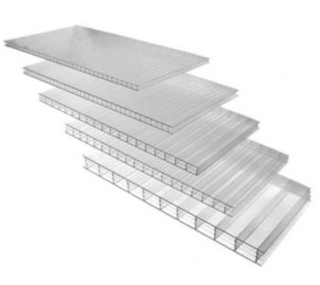 Сотовый поликарбонат АгроЛюкс прозрачный толщина 4 мм