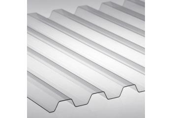 Профилированный поликарбонат 0,8 мм прозрачный