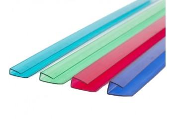 Прозрачный торцевой профиль для поликарбоната 4-6 мм
