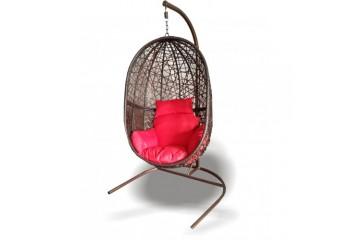 """Кресло-качели """"Кокон"""" подвесные из ротанга - садовые качели"""