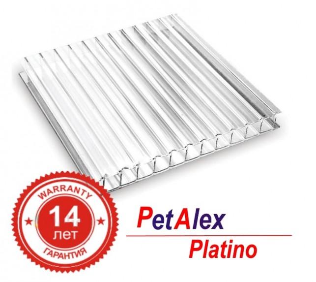 Сотовый поликарбонат 4 мм PetAlex Platino прозрачного цвета