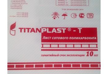 """Сотовый поликарбонат прозрачный """"TitanPlast-Т"""" 4 мм"""