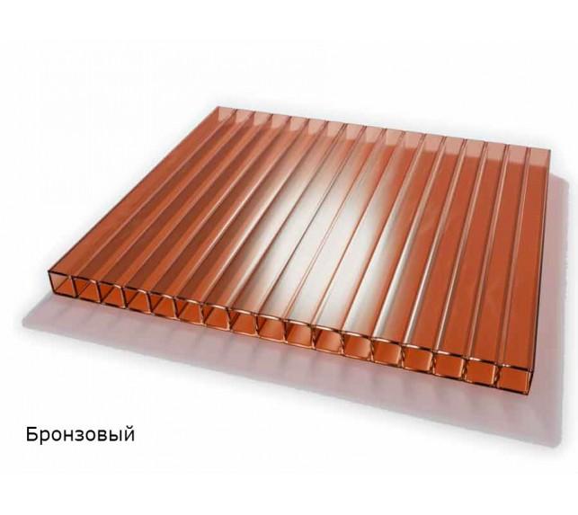 Сотовый поликарбонат бронза SCYGLASS толщина 8 мм - фото6