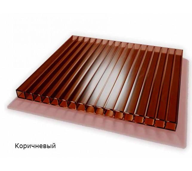Сотовый поликарбонат коричневый SCYGLASS толщина 8 мм - фото5