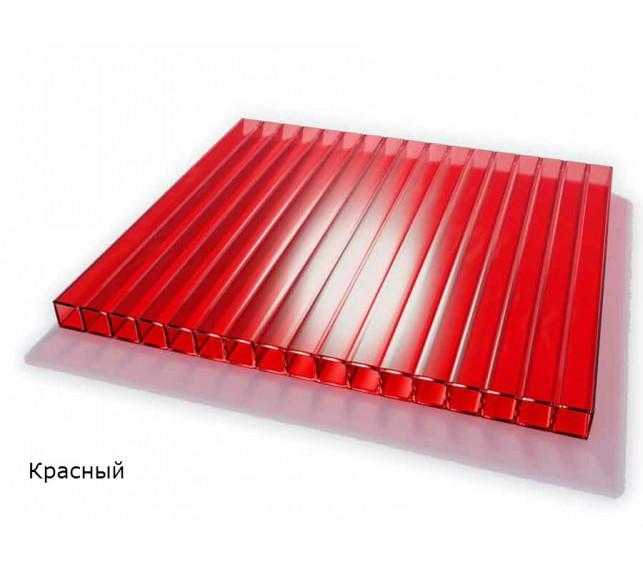 Сотовый поликарбонат красный SCYGLASS толщина 8 мм - фото3