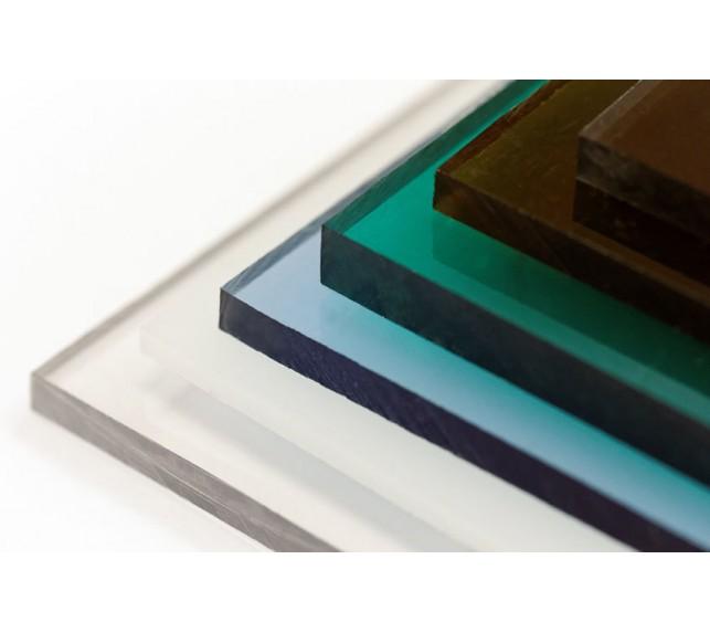 Монолитный поликарбонат цвет бронза 6 мм Woggel