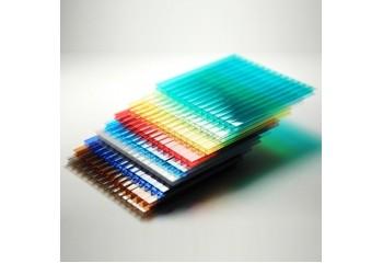 Сотовый поликарбонат цветной SCYGLASS 4 мм  общий вид - фото1