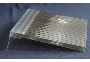 Пристенный профиль для поликарбоната (прозрачный) 4-6 мм