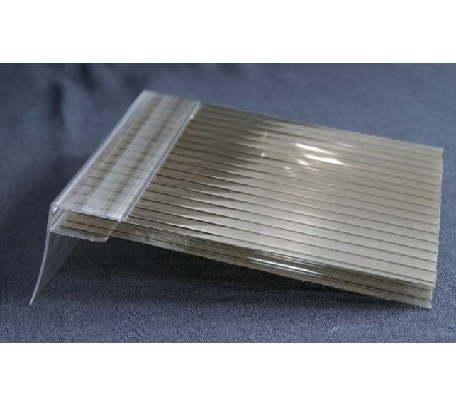 Пристенный профиль для поликарбоната (прозрачный) 16 мм