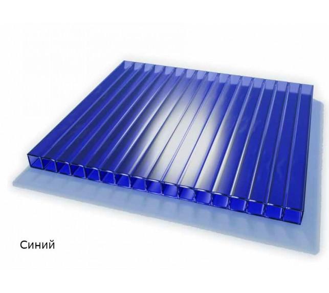 Сотовый поликарбонат синий SCYGLASS толщина 8 мм - фото4