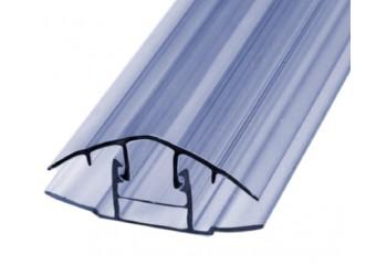 Соединительный профиль для поликарбоната разъемный прозрачный 10 мм