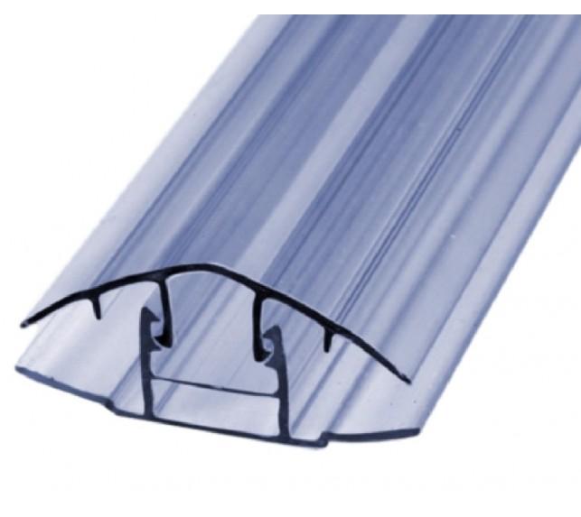 Соединительный профиль для поликарбоната разъемный прозрачный 4-6 мм