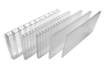 Сотовый поликарбонат прозрачный SCYGLASS толщина 6 мм