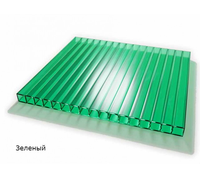 Сотовый поликарбонат зелёный SCYGLASS толщина 8 мм - фото8