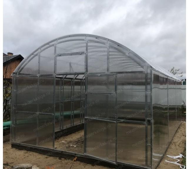 Теплица Фермерская ширина 4 м с прямыми стенками и арочной крышей - фото2