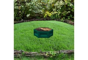 Клумба с полимерным покрытием диаметром 1,0 м зеленого цвета