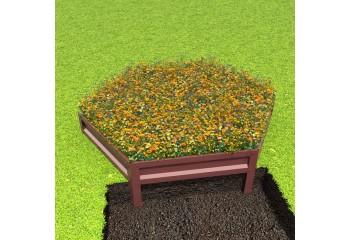 Клумба с полимерным покрытием диаметром 1,4 м шоколадно-коричневая
