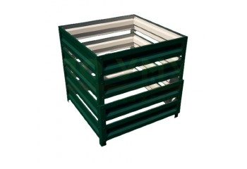 Компостер с полимерным покрытием цвет зеленый мох 1 на 1 м