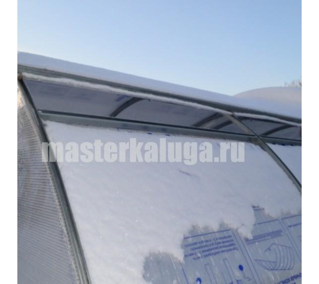 """Теплица со сдвижной крышей """"Слава - МКС"""" зимой - фото5"""