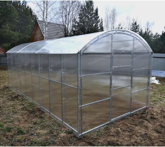 Прямостенная теплица оцинкованная с двойной фермой - фото10