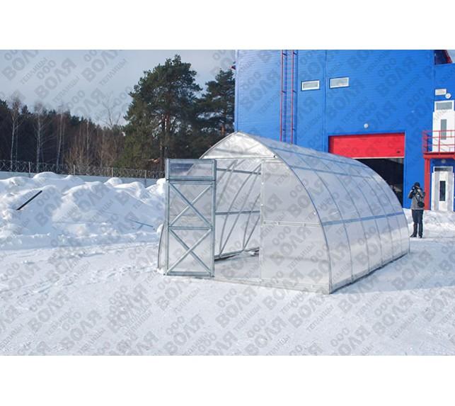 "Теплица ""Дачная-Стрелка 3.0"" зимой - фото3"