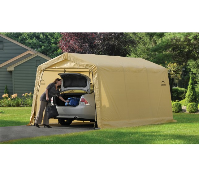 Гараж в Коробке 3x4,6x2,4м ShelterLogic, скатная крыша - гаражи тентовые каркасные - фото1