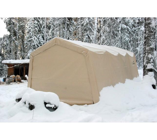 Гараж в Коробке 3x4,6x2,4 м ShelterLogic, скатная крыша - гаражи тентовые каркасные - фото3
