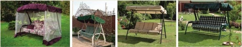 Уличные садовые качели для приусадебного участка
