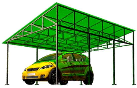 Односкатные навесы для автомобиля