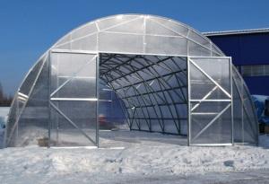 Зимние промышленные теплицы